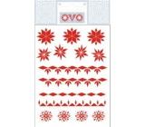 Ovo Straw Decals Red 12 motifs 1 sheet