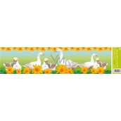 Room Decor Window foil without glue stripe easter geese 64 x 15 cm