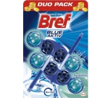 Bref Blue Aktiv Eucalyptus WC block for hygienic cleanliness and freshness of your toilet, color water to blue shade 2 x 50 g