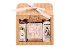 Bohemia Gifts & Cosmetics Christmas shower gel 100 ml + Angel handmade soap 80 g + Rosehip and Rose oil bath 100 ml