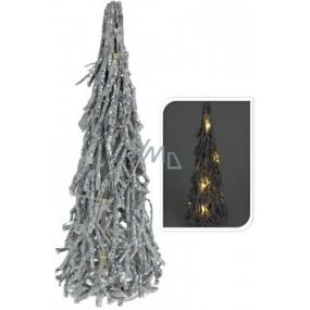Wicker tree silver LED 42 cm