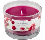 Bolsius Aromatic Wild Cranberry Scented candle in glass 90 x 65 mm 247 g burning time approx. 30 hours