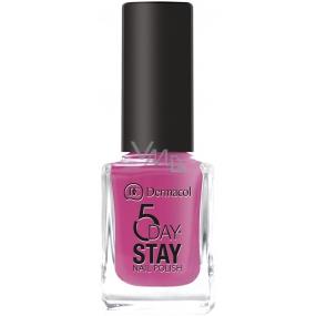 Dermacol 5 Day Stay Long-lasting nail polish 17 Pink Affair 11 ml
