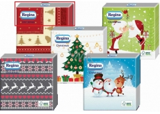 Regina paper napkins for Christmas 1 layer 20 pieces Red beige