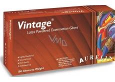 Aurelia Vitage disposable latex gloves with powder size M box 100 pieces