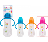 First Steps Feeding Bottle 0+ baby bottle clear with grips Owl pink 250 ml