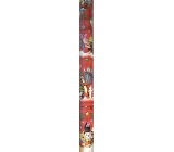 Ditipo Gift wrapping paper 70 x 200 cm Christmas Disney Winnie the Pooh Red Tiger