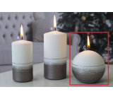 Lima Aroma line candle light brown ball 80 mm 1 piece