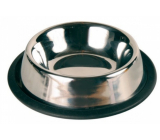 Trixie Stainless steel bowl with rubber 1.50 l diameter 30 cm