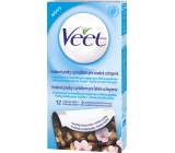 Veet A Vitamin E and Almond Oil Wax Tape for Sensitive Skin 12 + 2 pieces