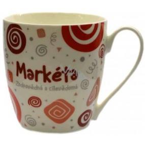 Nekupto Twister mug named Marketa red 0.4 liter