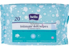Bella with antibacterial effect of wet napkins for intimate hygiene 20 pieces