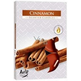 Bispol Aura Cinnamon - Cinnamon scented tealights 6 pieces