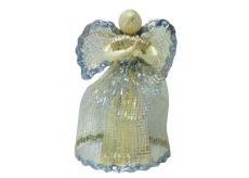 Abaca angel with silver trim 15 cm