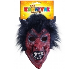 Devil mask with adult hair