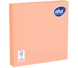 Aha Paper napkins 3 ply 33 x 33 cm 20 pieces of one-color salmon