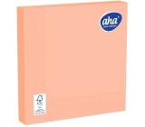 Aha Paper napkins monochromatic 3 ply 33 x 33 cm 20 pieces salmon