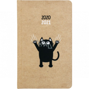Albi Diary from September 2020 to July 2021 pocket weekly student Kraft Cat 15.5 x 9.5 x 1.2 cm