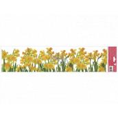 Window foil without glue stripes Daffodils 64 x 15 cm