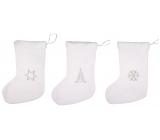 Plush stocking Santa Claus white 40 cm 1 piece