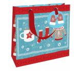 Nekupto Gift paper bag luxury 18 x 16 cm Christmas winter clothes WLIS 1972
