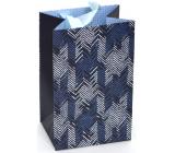 Nekupto Gift paper bag luxury 11 x 17.5 x 8 cm Blue 2039 LFS