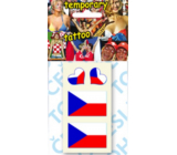 Arch Tattoo Decals for Face and Body 2 x Czech Flag and 2 x Heart 1 Piece
