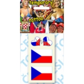 Arch Tattoo decals for face and body 2 x Czech flag and 2 x hearts 1 piece