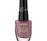 Astor Quick & Shine Nail Polish lak na nehty 618 Blackberry Smoothie 8 ml