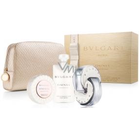 Bvlgari Omnia Crystalline eau de toilette for women 65 ml + body lotion 75 ml + fragrant soap 75 g + toilet bag, gift set
