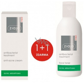 Ziaja Med Antibacterial light skin cream against acne 50 ml + cleansing tonic for oily and problematic skin 200 ml, duopack