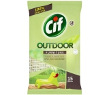 Cif Outdoor Wipes Wet Wipes 15 pieces