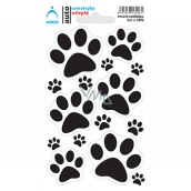 Arch Car sticker, sticker for outdoor use Paws 9 x 15 cm