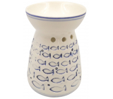 Porcelain aroma lamp with small fish 11 cm