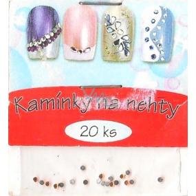 professional Nail decorations rhinestones orange 25101 20 pieces