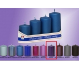 Lima Pyramida Candle smooth metal violet cylinder diameter 40 mm 4 pieces
