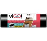 viGO! Garbage bags black, 6 µ, 35 liters 48 x 57 cm 50 pieces