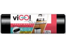 viGO! Waste bag black 35 liters 50 x 60 cm 50 pieces viGO!
