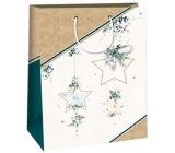 Ditipo Gift paper bag 32.4 x 10.2 x 44.5 cm gold stars DXA