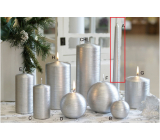 Lima Alfa candle silver cone 22 x 250 mm 1 piece