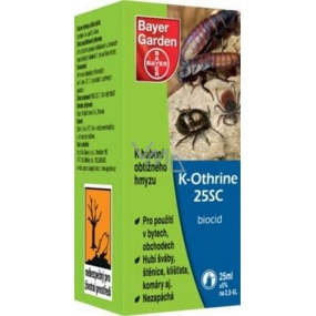 Bayer Garden K-Othrine 25SC product against difficult and harmful insects 25 ml