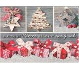 Nekupto Pohlednice s glitrem Vánoční vzor 1 Radostné Vánoce V41 PA 15 x 11 cm
