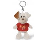 Nici Love You Dog in a 10 cm keychain t-shirt