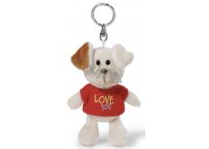 Nici Love You Pes v tričku klíčenka 10 cm