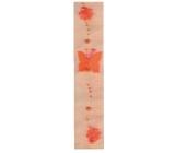 Decorative ribbon 02 orange width 7.5 cm, length 2 m