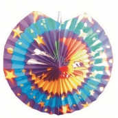 Lampion blue - violet with moon 30 cm 9062 9804