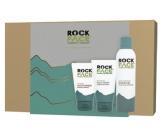 RockFace Extra Hydrating shaving gel for men 200 ml + Energizing face cleansing gel 150 ml + Sensitive Moisturiser cream for sensitive men's skin 100 ml, cosmetic set