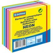 Donau Self-adhesive pads neon-pastel colors 76 x 76 mm, 400 sheets