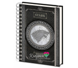 Epee Merch Game of Thrones Game of Thrones - Stark Block A5 21 x 15 cm ring lined