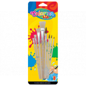 Colorino brush with wooden nozzle 8 pieces